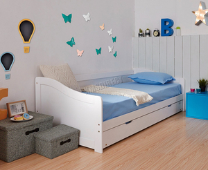Kid Solid Wood Day Bed with Trundle