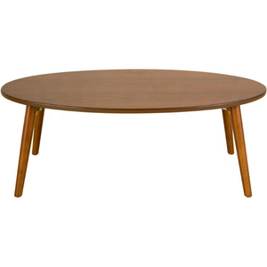 Solid Wood Oval Folding Table for Coffee