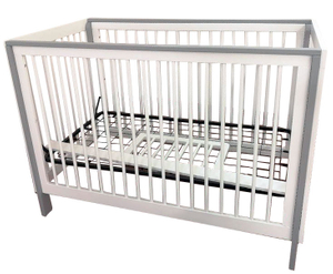 Modern Grey Wood Baby Crib