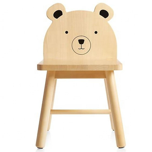 Modern Wooden Bear Animal Kids Chair