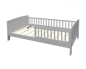 Grey Wood Toddler Bed for Kid