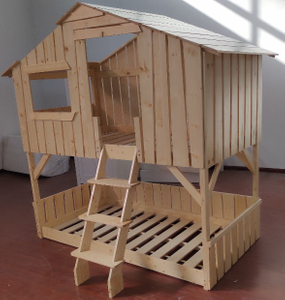 Play House Bunk Beds in Wood