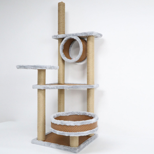 Wood Cat Climbing Tree House