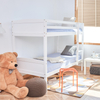 Kid Convertible White Solid Wood Bunk Bed 1 into 2