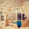 Kid House Bed with Safety Rail