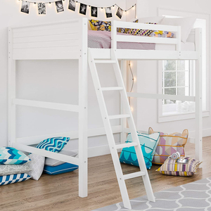 White Solid Wood Loft Bed for Child