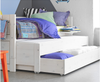 White Wood Triple Sofa Bed with 2 Trundles
