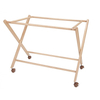 Wooden Baby Crib Cradle with Scissors Leg
